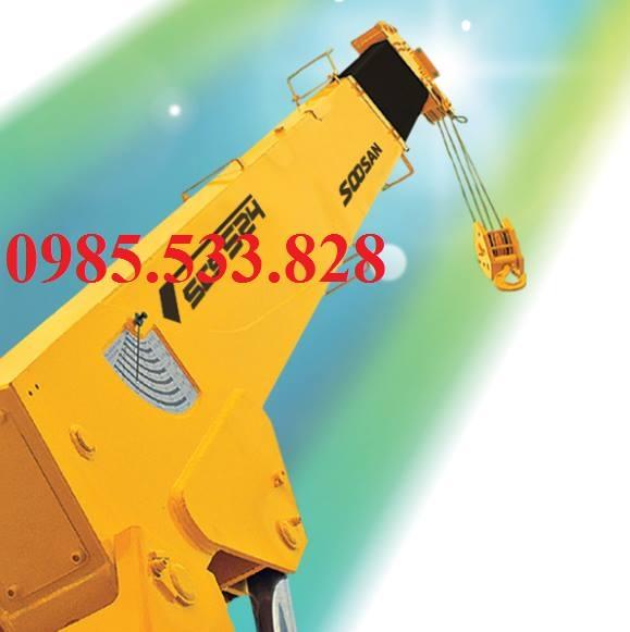 Cẩu Soosan 5 tấn, cẩu soosan SCS524 lắp trên xe 3 chân giá rẻ