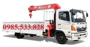 Cẩu unic 370 3 tấn 3 đốt, cẩu unic 370 gắn trên xe hino 5 tấn