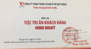 Hino Việt Đăng tri ân khách hàng năm 2016