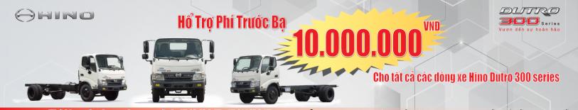 Khuyến Mãi Tháng 6- Hỗ trợ thuế trước bạ Hino Dutro 300
