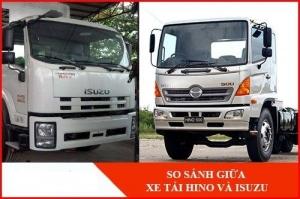 So sánh xe tải hãng  Hino và hãng xe tải Isuzu?