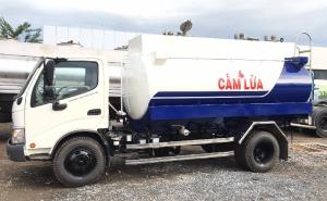 Xe bồn chở xăng dầu 6 khối|giá xe téc xăng dầu hino 6 khối tốt nhất