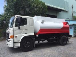 Xe bồn chở xăng dầu hino 11m3|giá xe téc xăng dầu hino 11 khối