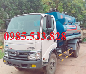 Xe bồn chở xăng dầu hino 6m3 model dutro WU342-130HD