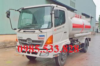 Xe bồn chở xăng dầu hino 8 m3 với model xe hino FC9JJSW