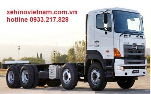 Xe Hino 4 chân - Xe hino 4 chân ra mắt thị trường xe tải Việt Nam